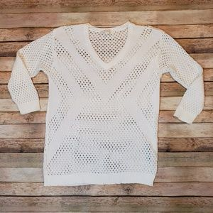 Two by Vince Camuto White Sweater Small